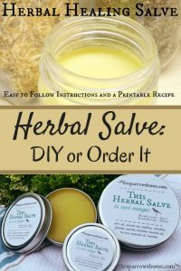 This Herbal Healing Salve is not difficult to make & works fantastically for cuts, scrapes, hangnails, chapped lips, burns, diaper rash, general rashes, eczema, chafing, and just about anything skin-wise that you're not sure what to do with.
