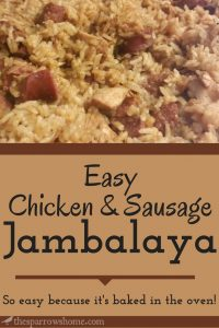 This easy jambalaya with chicken and sausage will become one of your family's favorites.