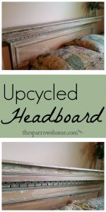 Create something unique for your home like this re-purposed headboard.