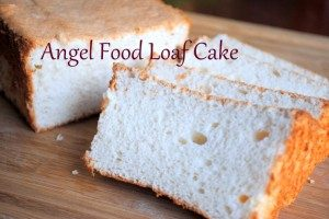 This angel food cake is a delicious way to use up an abundance of egg whites!
