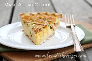 This quiche is easily doubled to serve more people, and is perfect for customizing just the way you like it.