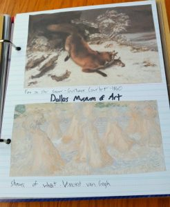 Smashbooks are a creative way to organize artist studies before a visit to a museum.