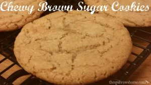 These brown sugar cookies are chewy and buttery. Delicious!