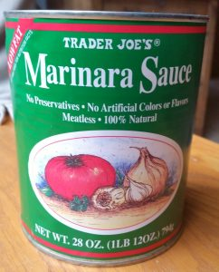 Trader Joes Marinara is a great 'blank slate' sauce. I like to add dried Italian seasoning, garlic, a pinch of hot pepper flakes and some fresh basil.
