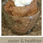 Easy, healthy chocolate mousse recipe that starts with a can of coconut cream.