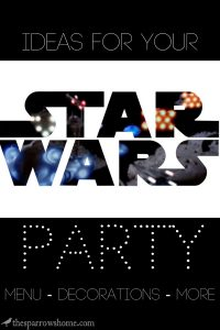 Lots of ideas for a Star Wars themed party. Tons of food and decorating ideas!!