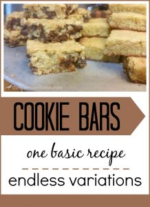 These cookie bars are a simple treat to whip up for guests.