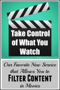 Finding a service that allows us to filter content in movies has rocked our world!