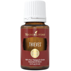 Thieves Oil is one of our go-to remedies when cold season hits.