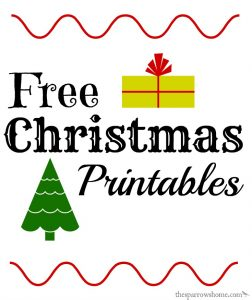 Lyrics from popular songs available as free Christmas printables!