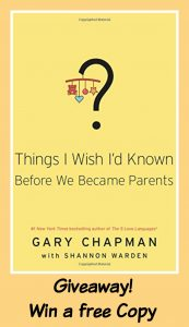 We spend so much time preparing for pregnancy and so little preparing for parenting. Enter to win your free copy of Gary Chapman's new book.