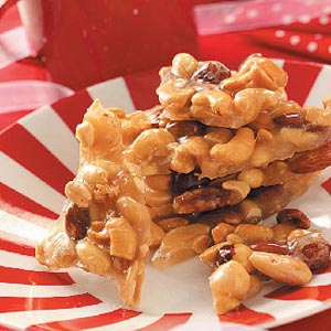 This mixed nut brittle is one of the handmade gifts I give at Christmas.