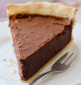 This chocolate fudge pie is is just one of the long list of chocolatey chocolate recipes you'll find here.