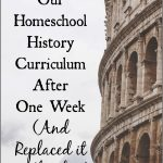 We found a homeschool history curriculum that we just loved! Click here to read why.