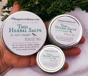 This Herbal Salve is available in 3 sizes: 4 oz, 2 oz, and 1 oz (perfect for your purse!)