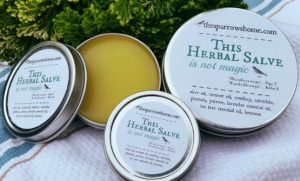 This Herbal Salve is made with simple ingredients in small batches. Keep it on hand for everything from dry, cracked skin & chapped lips to cuts and eczema. Three convenient sizes.