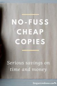 No-fuss, cheap copies from The Homeschool Printing Company. Click here to find out how to save 10% on your first order!