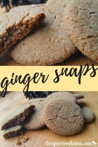 Ginger snaps. Sometimes called molasses cookies or molasses crinkles...it's a classic recipe, just like my grandma used to make!
