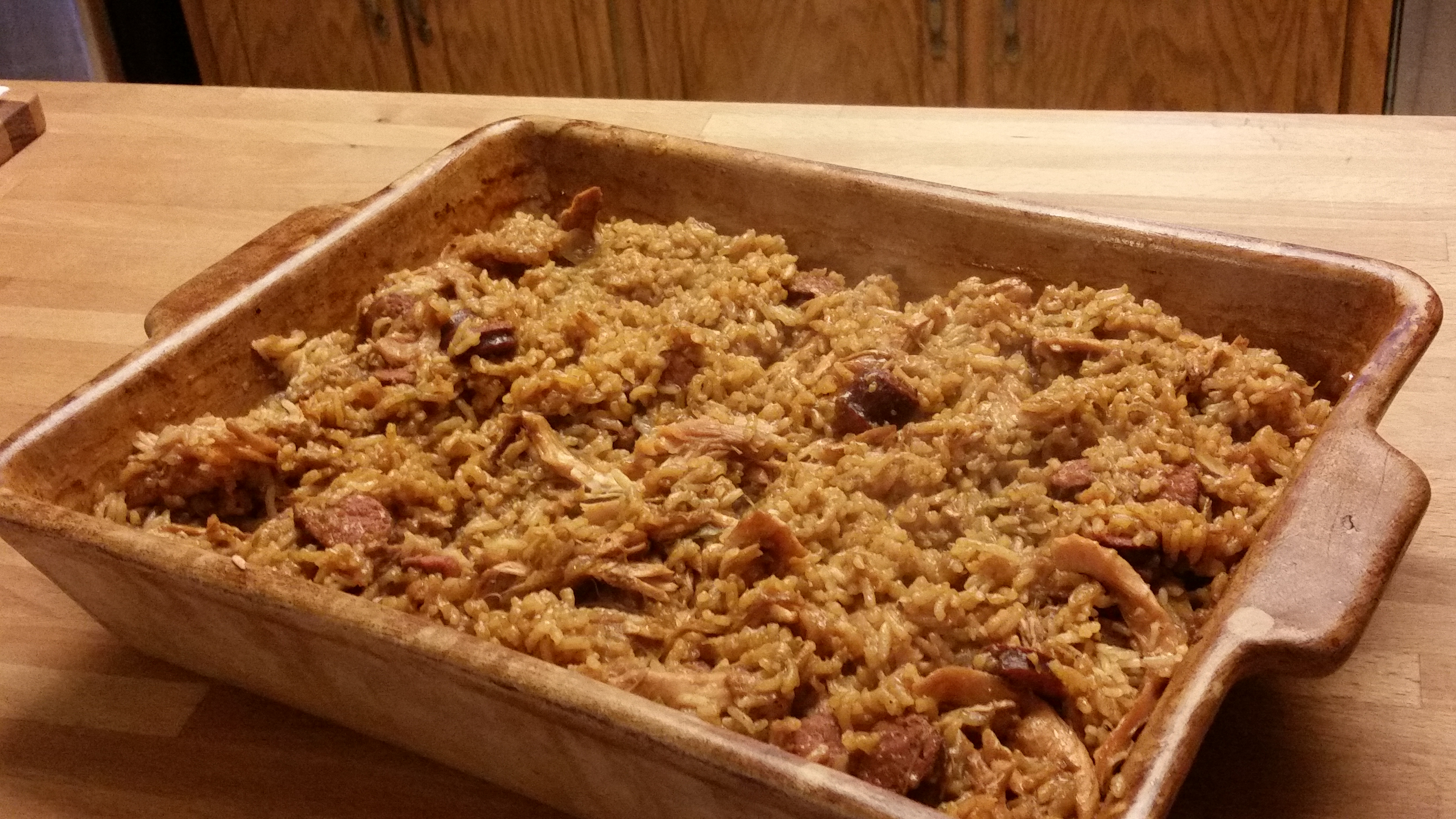 Click here for an easy jambalaya recipe. Tasty chicken and sausage jambalaya.