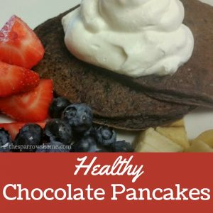 Decadent chocolate pancakes that are surprisingly healthy!  Shhhh...they're packed with good stuff.