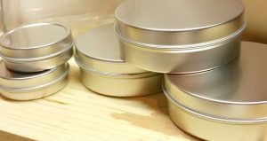 Use these tins when you make Herbal Healing Salve