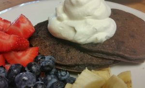 Decadent (and healthy) chocolate pancakes