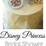 A Disney Princess themed bridal shower. Decorations, menu ideas and free printables!
