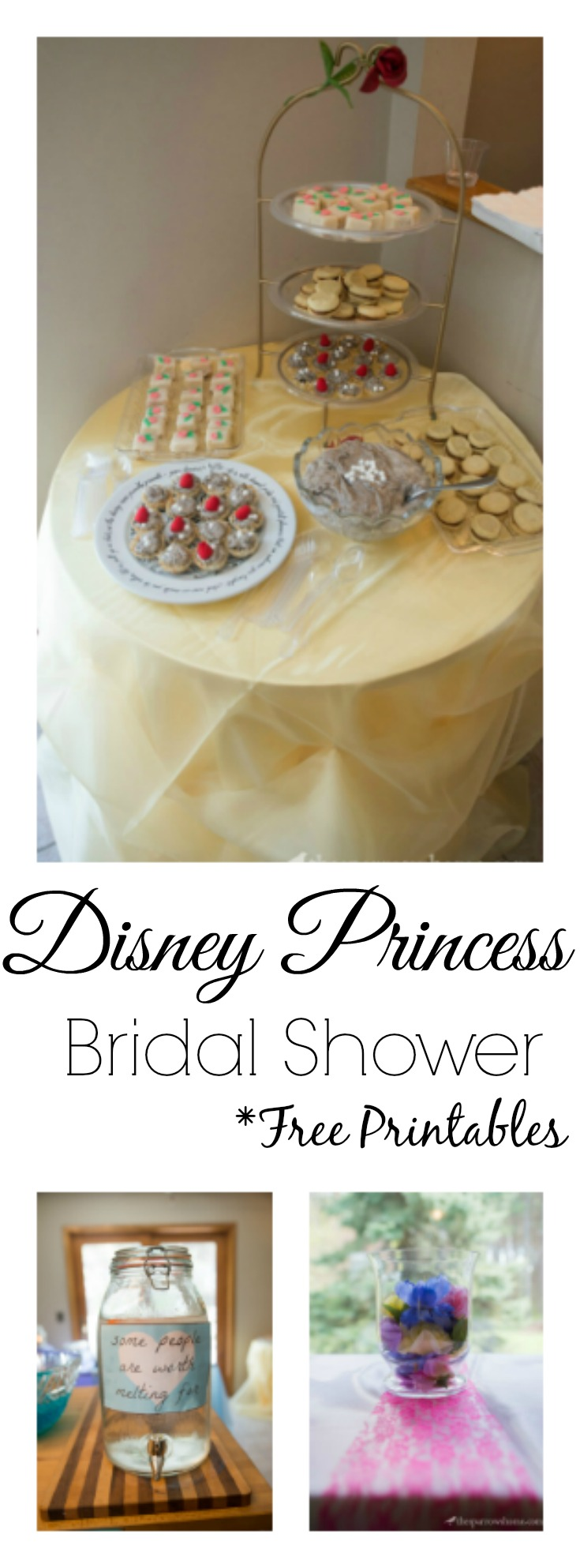 a disney princess themed bridal shower decorations menu ideas and free printables