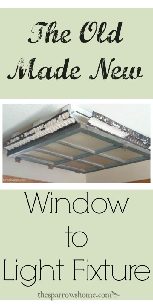 Make a light fixture from a vintage window!