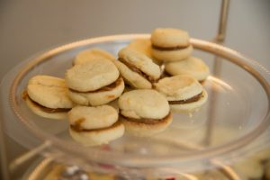 Alfajores, sweet sandwich cookie made with dulce de leche
