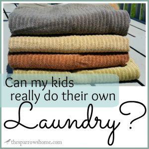 Teaching your kids to do their own laundry is possible, and it will make your life so much easier!