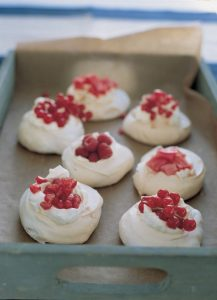 These mini pavlovas are a delicious way to use up extra egg whites!