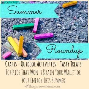 Lots of links to crafts, cool treats and fun outdoor activities to do with your kids this summer!