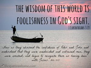 """When conventional """"wisdom"""" conflicts with Scripture, I will be the fool and believe the simplicity of God's word every time."""