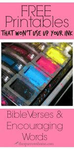 I love planting truth in our hearts with printables around the house, but do not love the expense of ink cartridges. Here are 7 FREE printables that are frugal with color.