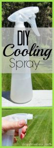 When the summer sun gets hot, it's time to make this DIY Cooling Spray. Cooling and moisturizing, perfect help for sunburn!