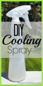 This DIY Cooling Spray is made with aloe vera, witch hazel and essential oils.
