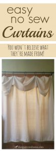 An easy no sew curtain. Love it!
