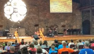 "Can I take a minute to brag on my one and only for a minute?  The theme for the week of camp was ""Busting Myths"". Greg spoke one evening on The Truths of Creation and the Lies of Evolution.  I'm so proud of the man of God that my husband has grown into over the years, and will take any opportunity to shine a light on"