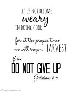 Free printables of Bible verses and encouraging words that don't use tons of ink.