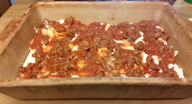 If you're looking for a new twist on a classic, give this a try. Unless you don't like cheese oozing between layers of meaty, saucy goodness and tender pasta. In that case, definitely do not make this lasagna.