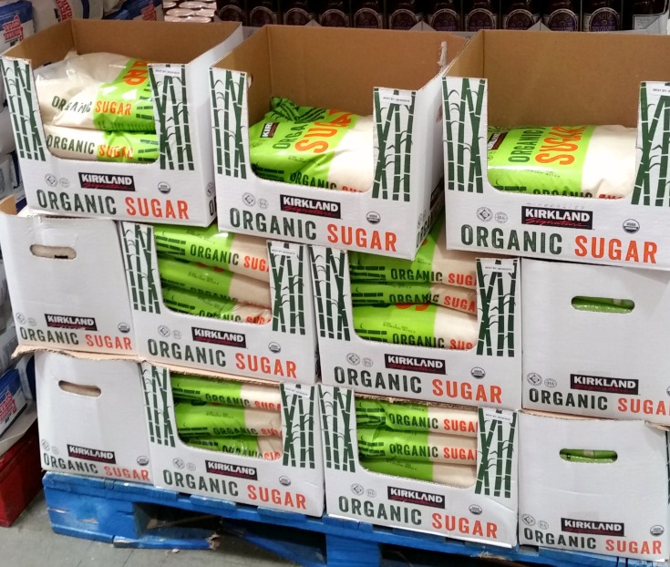 Cane sugar is on my list of items I always pick up at Costco. What else is on my list?