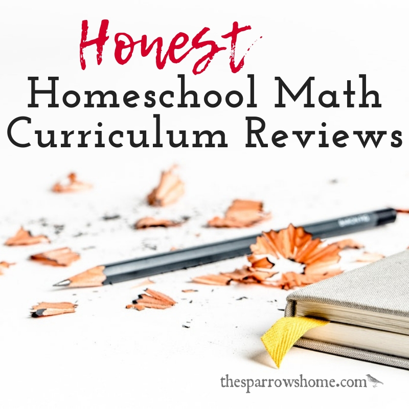 Honest homeschool math curriculum reviews from 10 years of homeschooling. What worked, and what we really wanted to work but just didn't.