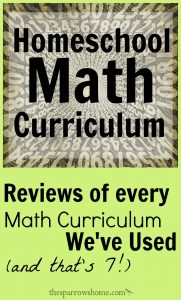 "One of the best things about homeschooling is being able to find a curriculum that ""fits"" your student. We've used a variety of math curriculum over the years. Here are my reviews of all of them!"