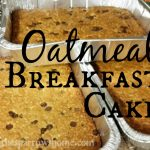 This oatmeal breakfast cake is an easy, frugal, and satisfying way to cook breakfast for a crowd (or your family!)