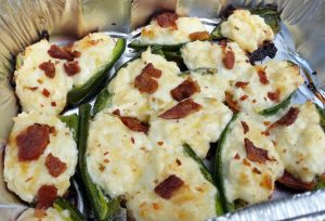 Spicy, cheesy, smoky stuffed grilled jalapenos. So easy and fresh!