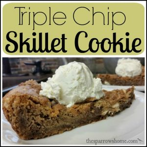 An ooey, gooey dessert that you mix in the same skillet you bake it in!