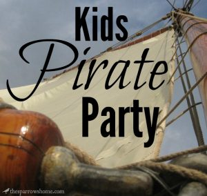 Lots of ideas for planning a pirate party for your child's birthday.