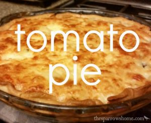 Cheesy, fresh tomato pie is a treat you'll want to make again and again!