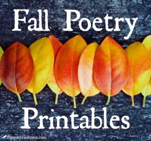 A variety of printable fall poetry to enjoy this season.